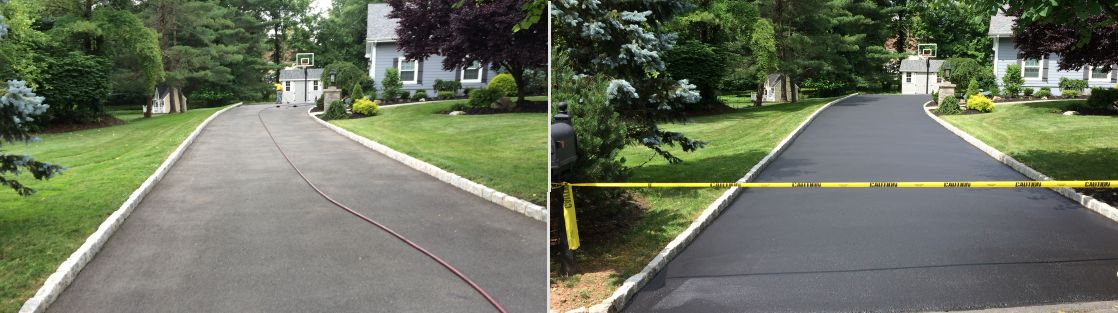Titan Mountainside Driveway Sealing Before and After