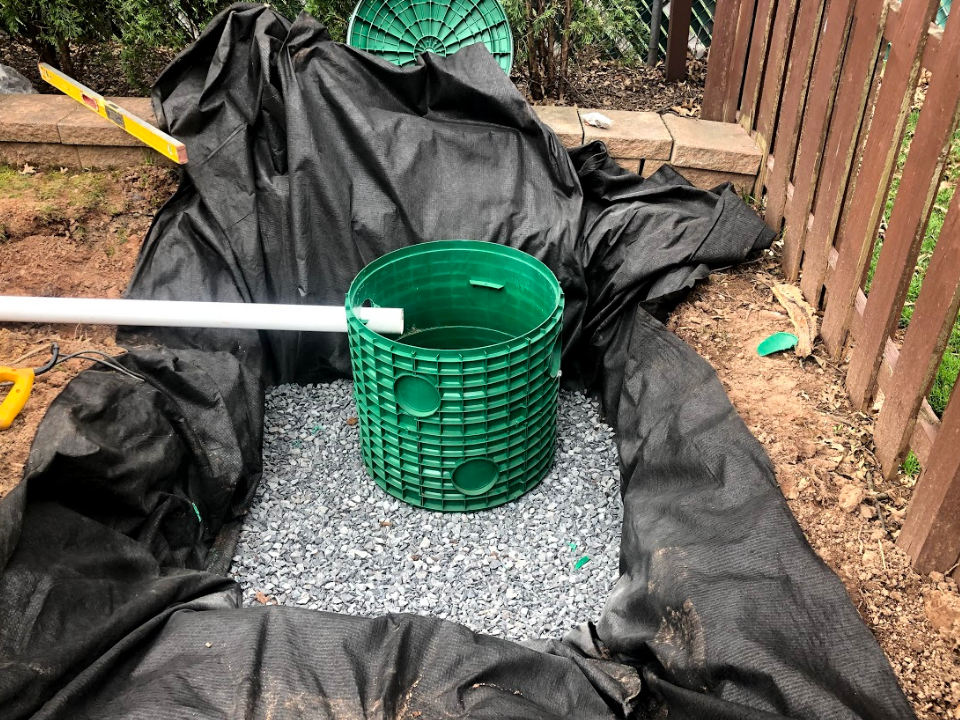 Titan Fixes Backyard Flooding with French Drains, Dry Wells and Exterior Sumps